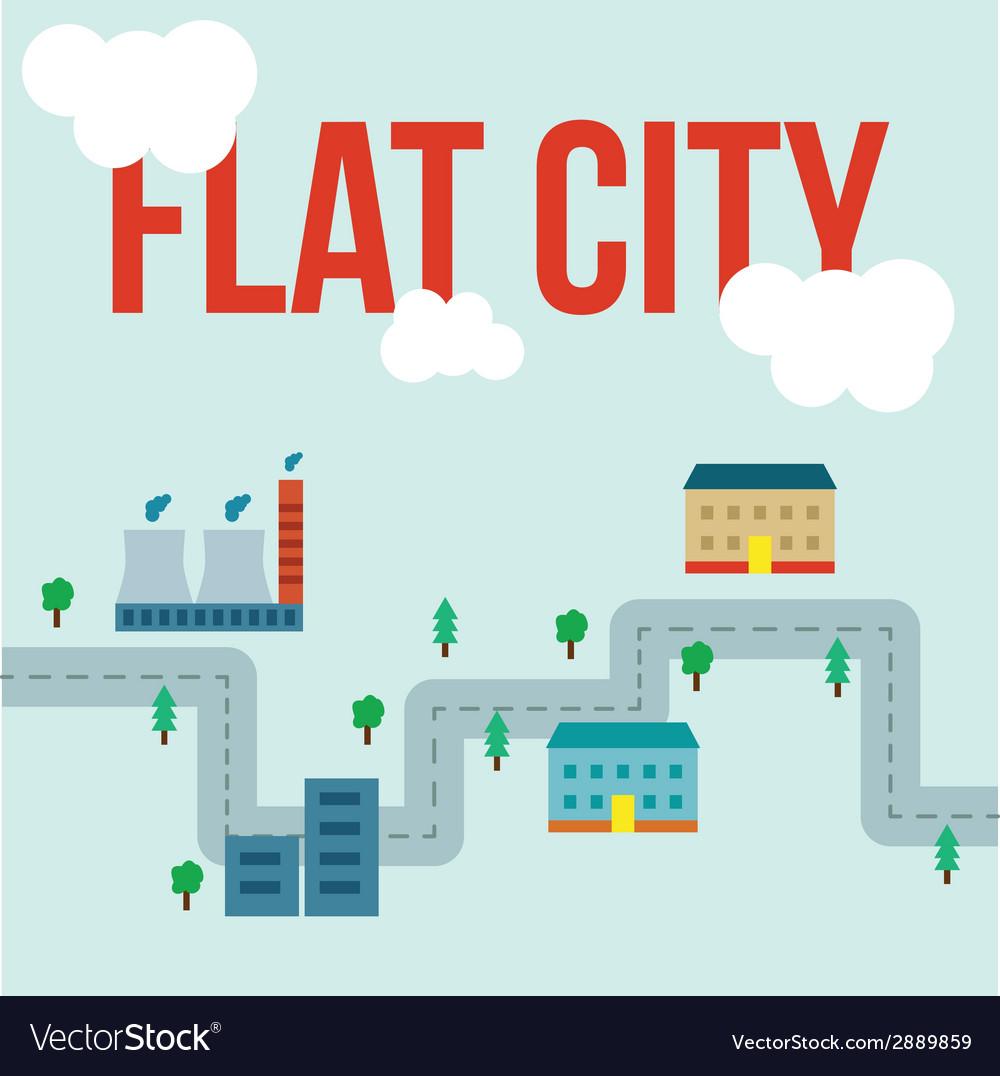 Flat city infographic vector | Price: 1 Credit (USD $1)