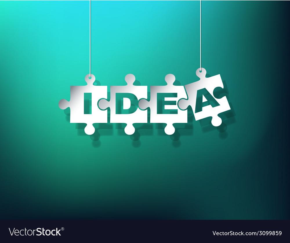 Idea puzzle pieces vector   Price: 1 Credit (USD $1)