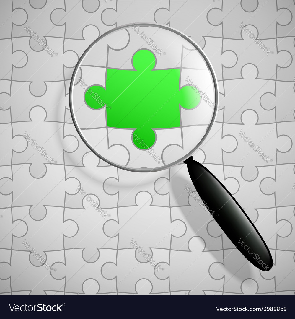 Puzzle and magnifier vector | Price: 1 Credit (USD $1)