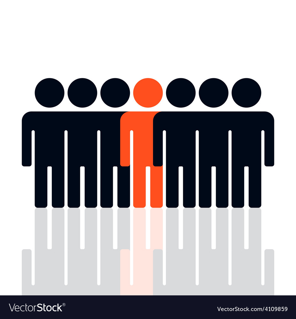 Silhouette of a group of people vector | Price: 1 Credit (USD $1)