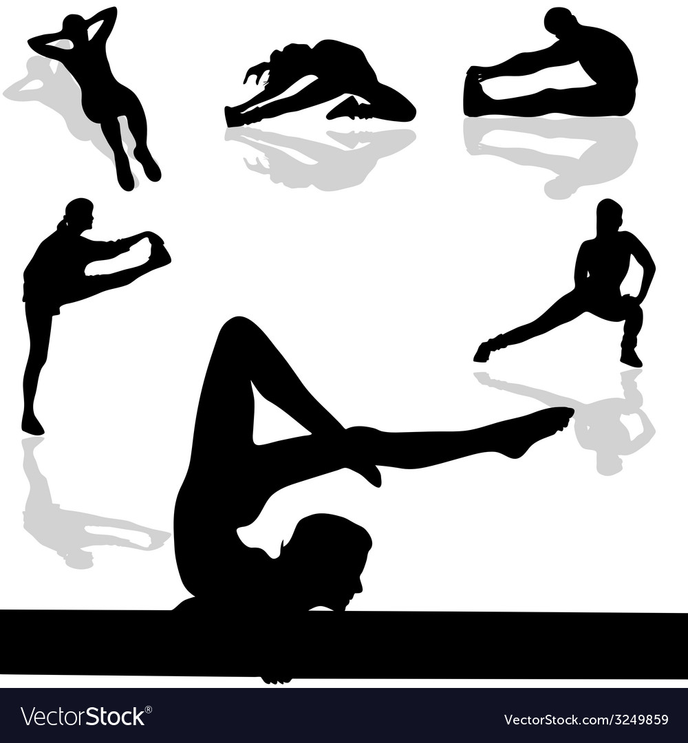 Sports and gymnastic exercises vector | Price: 1 Credit (USD $1)