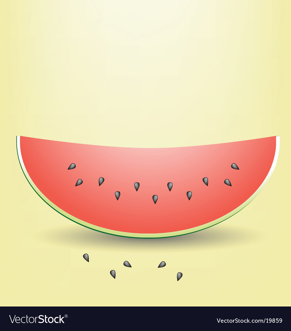 Watermelon slice vector | Price: 1 Credit (USD $1)