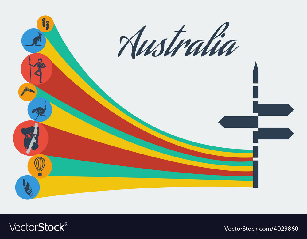 Australia safari vector | Price: 1 Credit (USD $1)