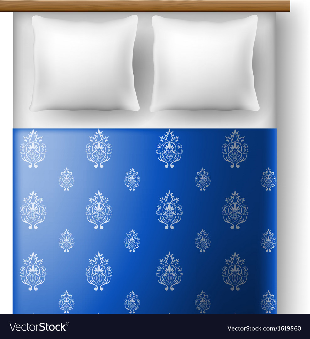 Bed from top view with pillows vector | Price: 1 Credit (USD $1)