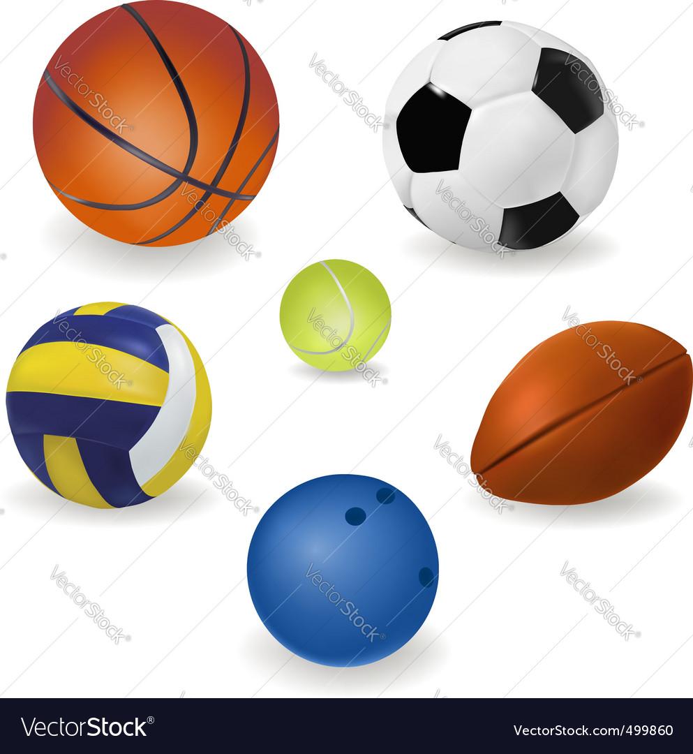 Big set of sport balls vector | Price: 1 Credit (USD $1)