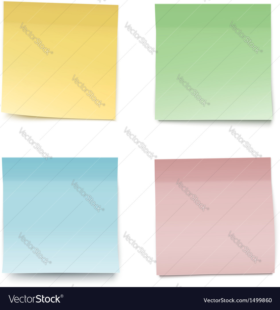 Colorful paper notes vector | Price: 1 Credit (USD $1)