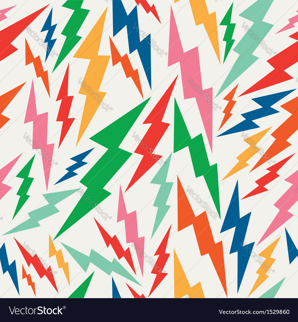 Colorful retro bolt seamless pattern vector | Price: 1 Credit (USD $1)