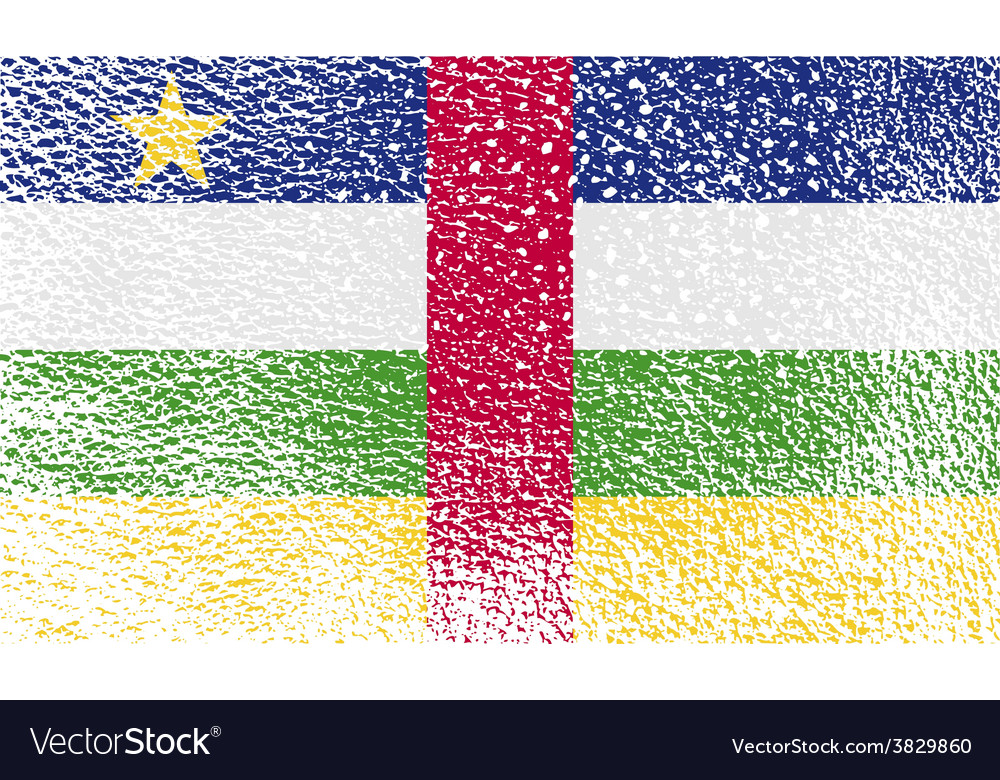 Flag of central african republic with old texture vector | Price: 1 Credit (USD $1)