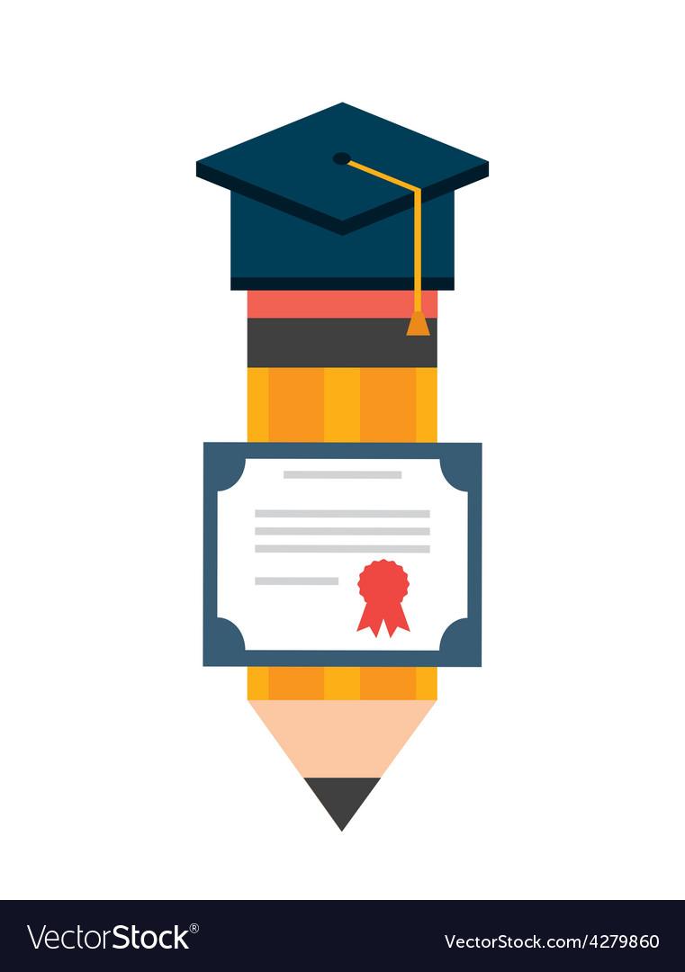 Graduation icon vector   Price: 1 Credit (USD $1)