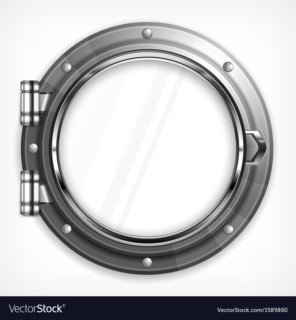 Porthole seascape on white vector | Price: 1 Credit (USD $1)
