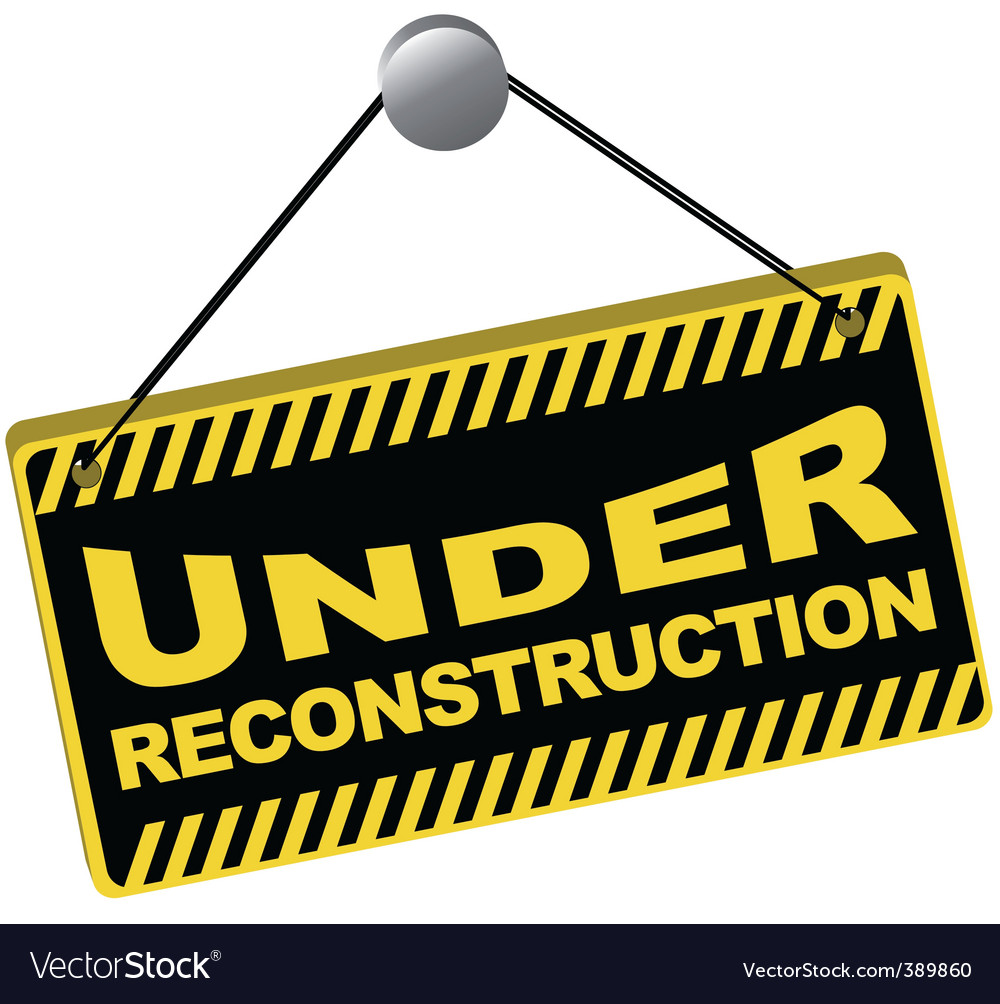 Under reconstruction sign vector | Price: 1 Credit (USD $1)