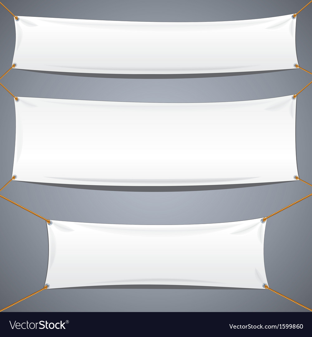 White textile banners advertising template vector | Price: 1 Credit (USD $1)