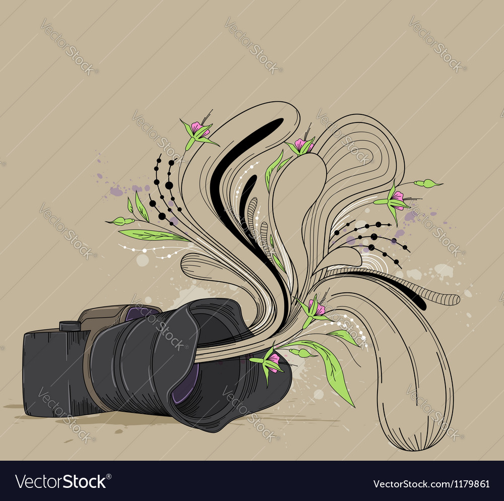 Abstract background with camera vector | Price: 3 Credit (USD $3)