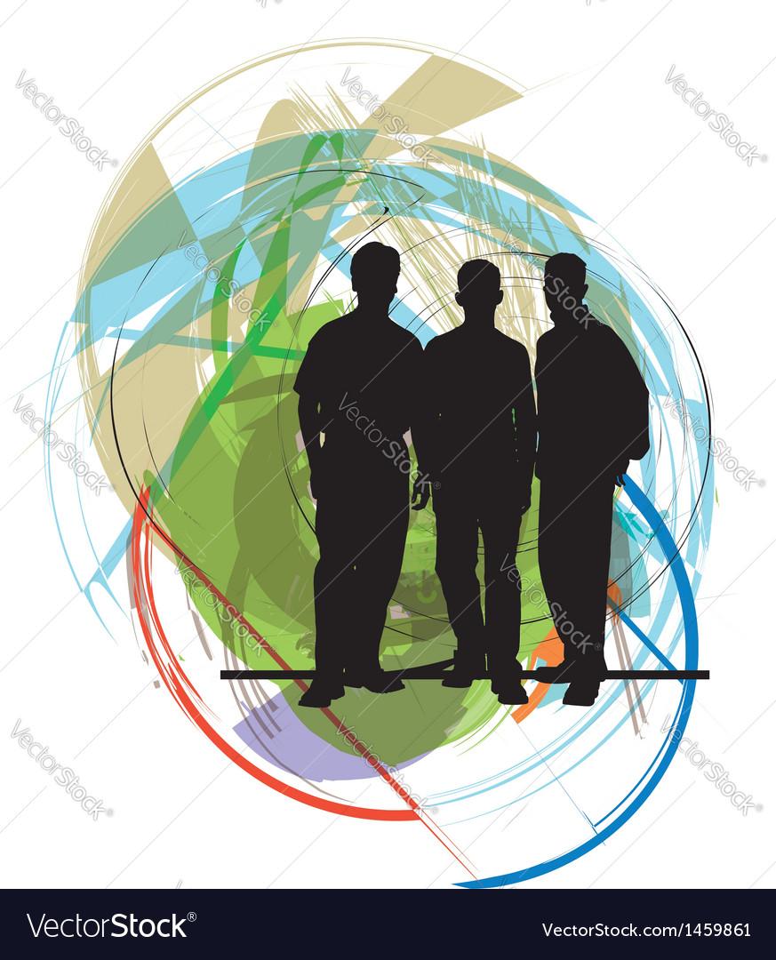 Businessmen vector | Price: 1 Credit (USD $1)