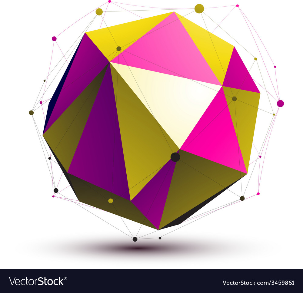 Colorful abstract 3d structure gold and purple vector | Price: 1 Credit (USD $1)