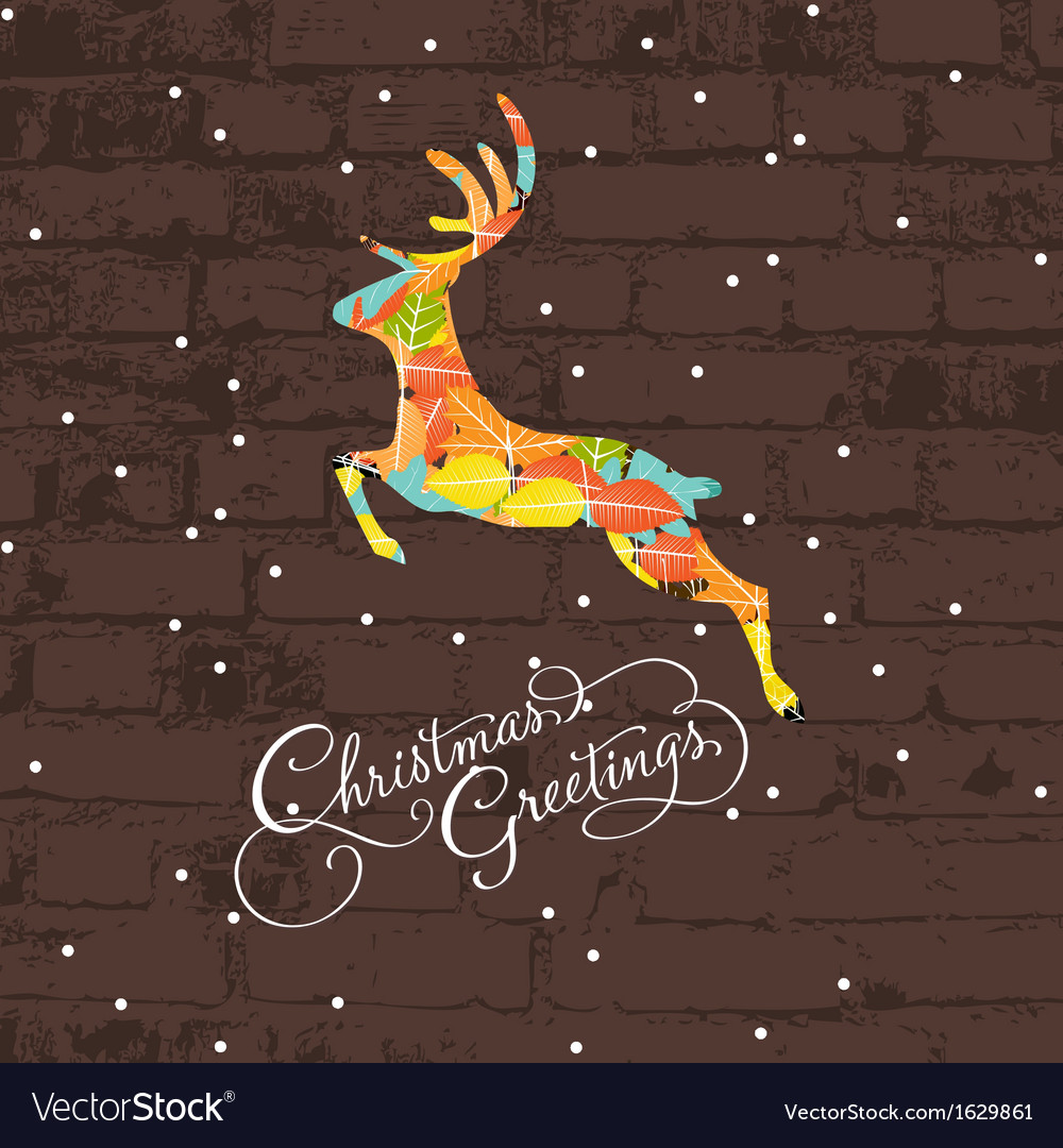 Decorative christmas deer vector | Price: 1 Credit (USD $1)