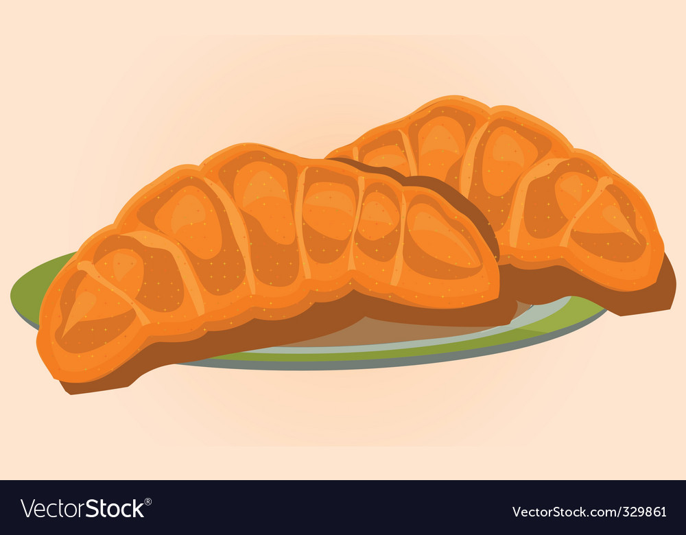 Golden croissants vector | Price: 1 Credit (USD $1)