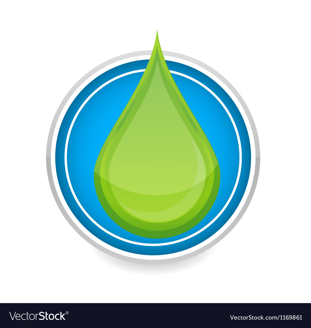 Green nature eco drop symbol vector | Price: 1 Credit (USD $1)