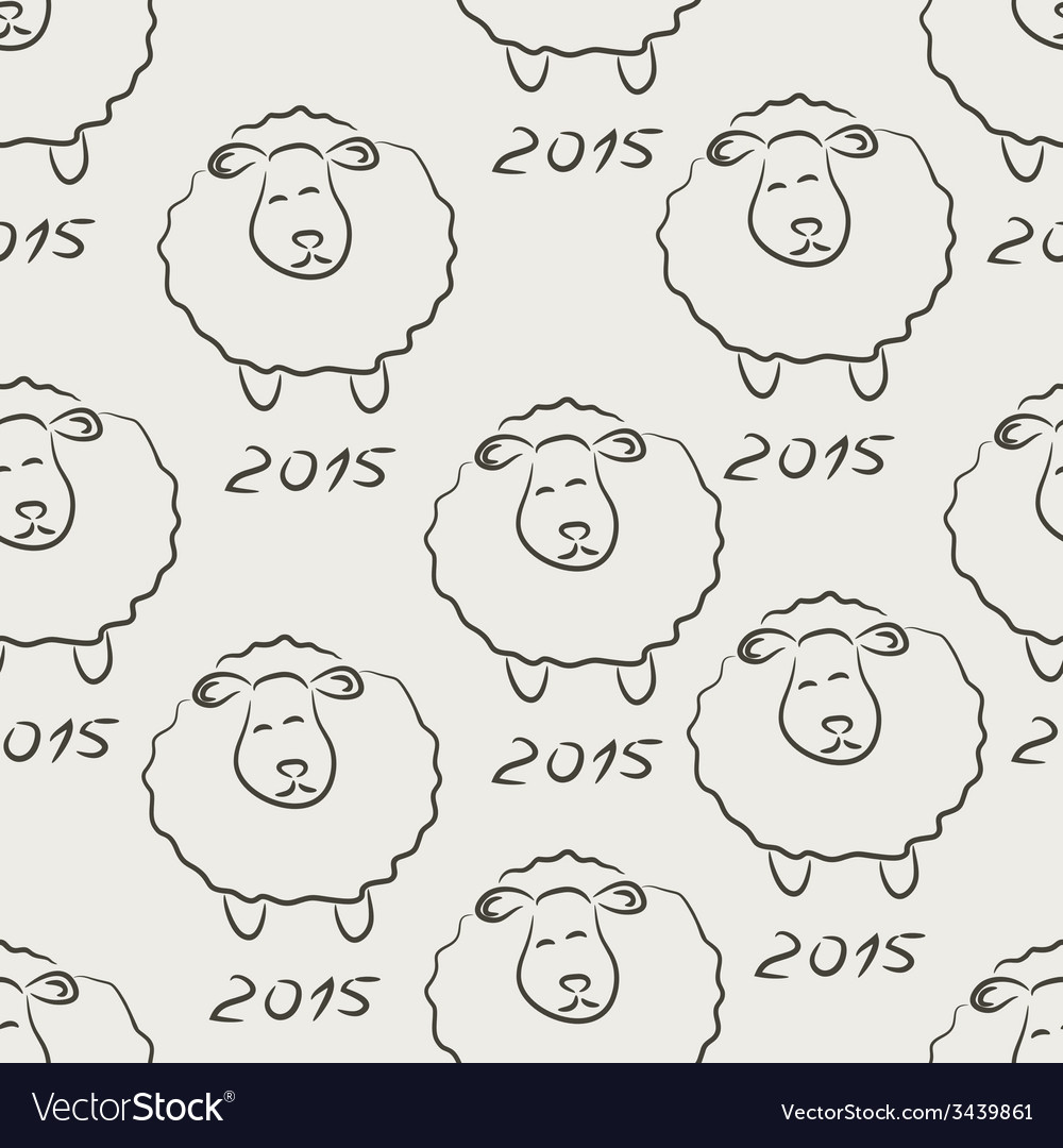 Seamless sheep sketch vector | Price: 1 Credit (USD $1)