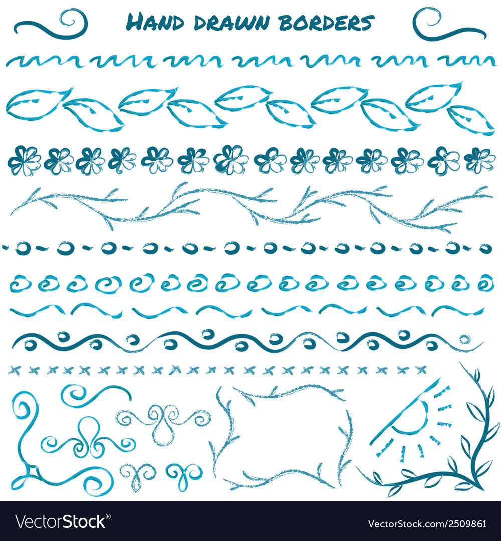 Set of hand drawn design elements vector | Price: 1 Credit (USD $1)