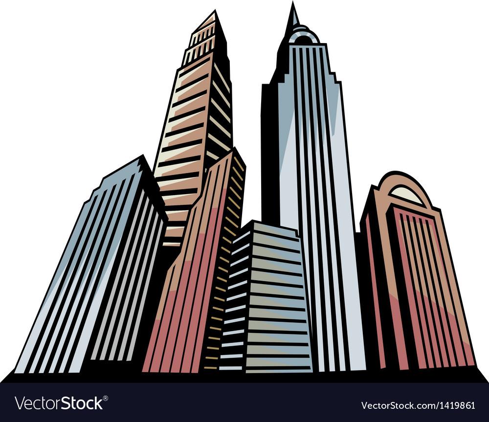 Skyscrapers art vector | Price: 1 Credit (USD $1)