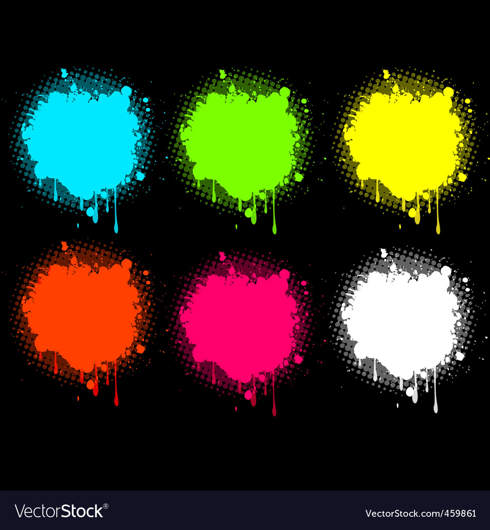 Splash electric collection vector | Price: 1 Credit (USD $1)
