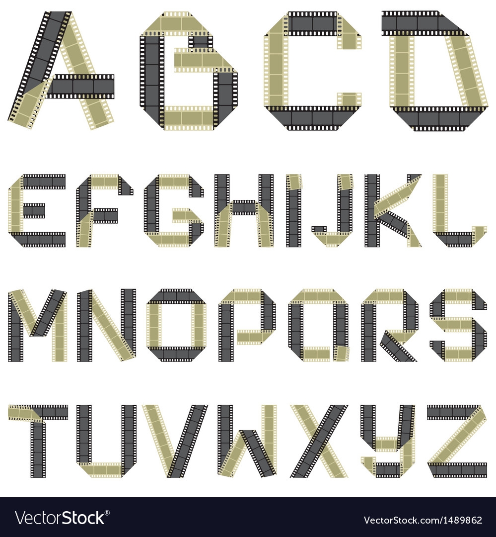 Abc film vector | Price: 1 Credit (USD $1)