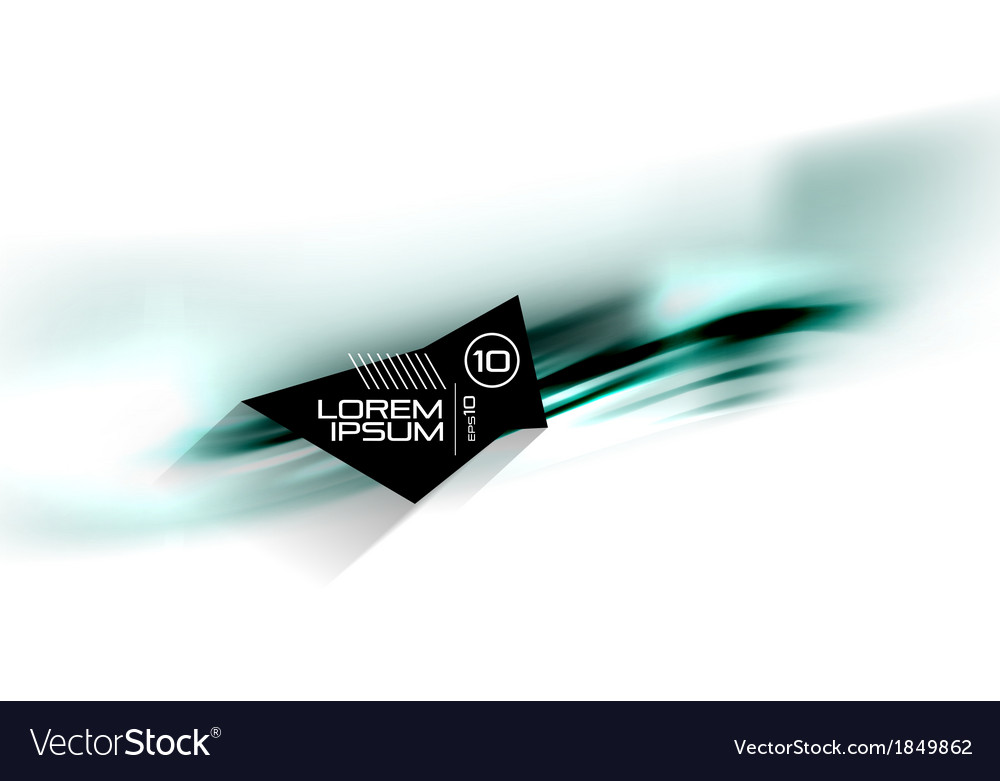 Abstract blurred isolated motion lines vector | Price: 1 Credit (USD $1)