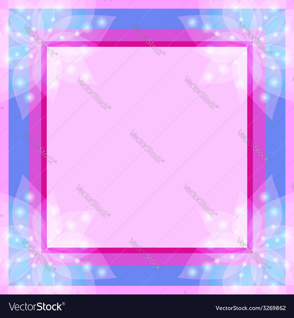 Abstract floral decorative frame vector | Price: 1 Credit (USD $1)