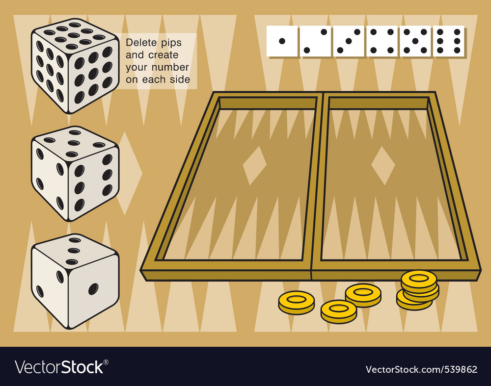 Backgammon vector | Price: 1 Credit (USD $1)