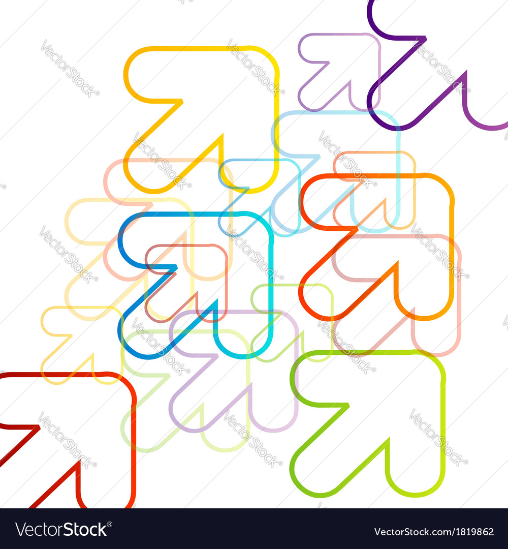 Background with colorful arrows vector | Price: 1 Credit (USD $1)