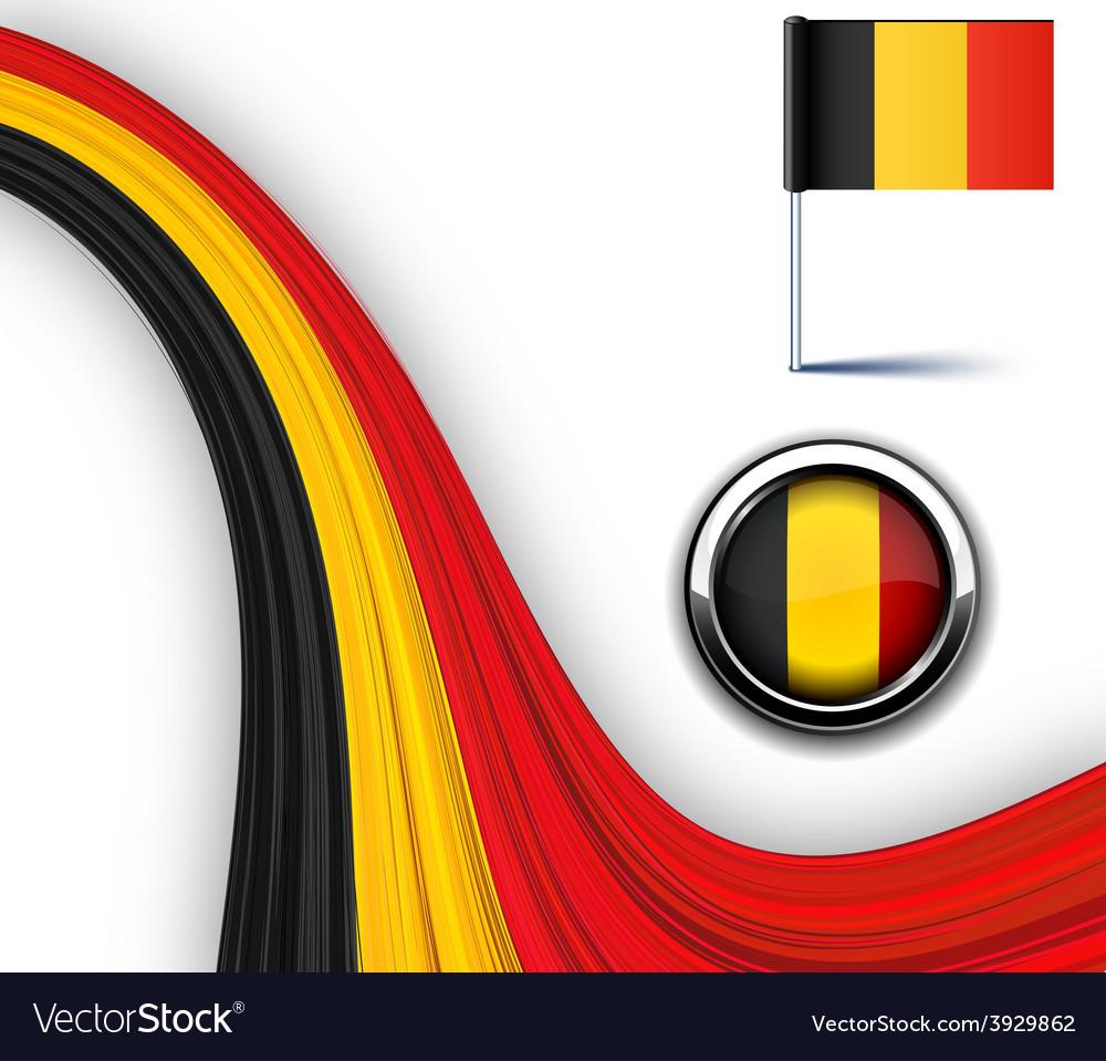 Belgian flag vector | Price: 1 Credit (USD $1)