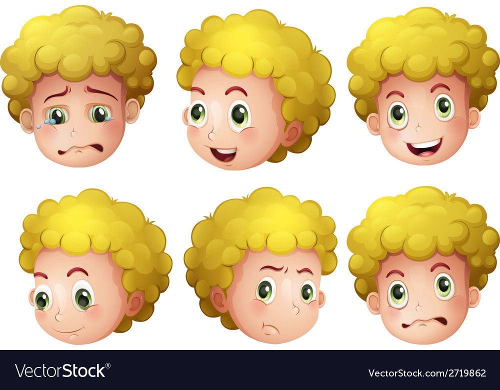 Blonde boy vector | Price: 1 Credit (USD $1)