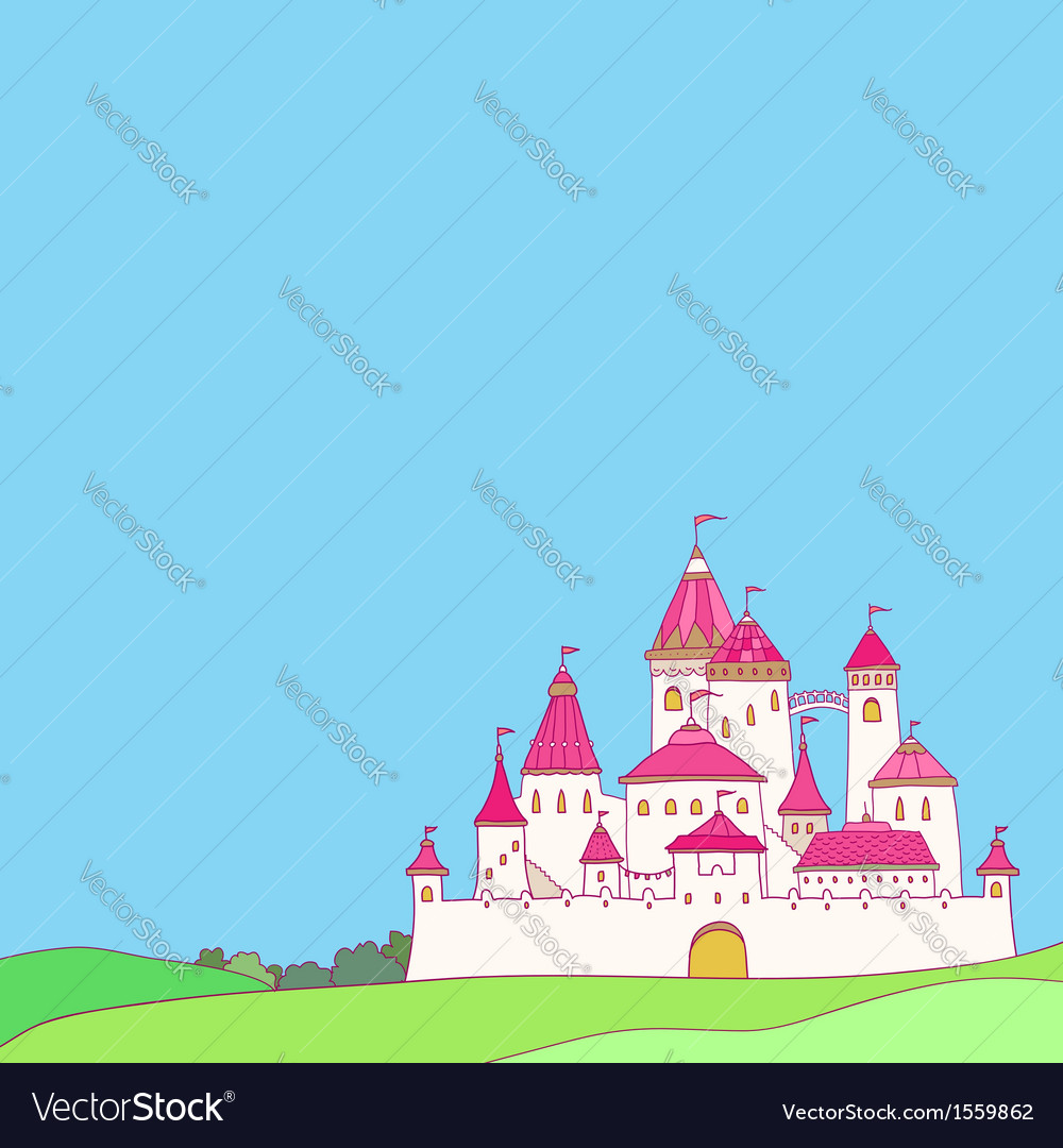 Castle pink vector | Price: 1 Credit (USD $1)