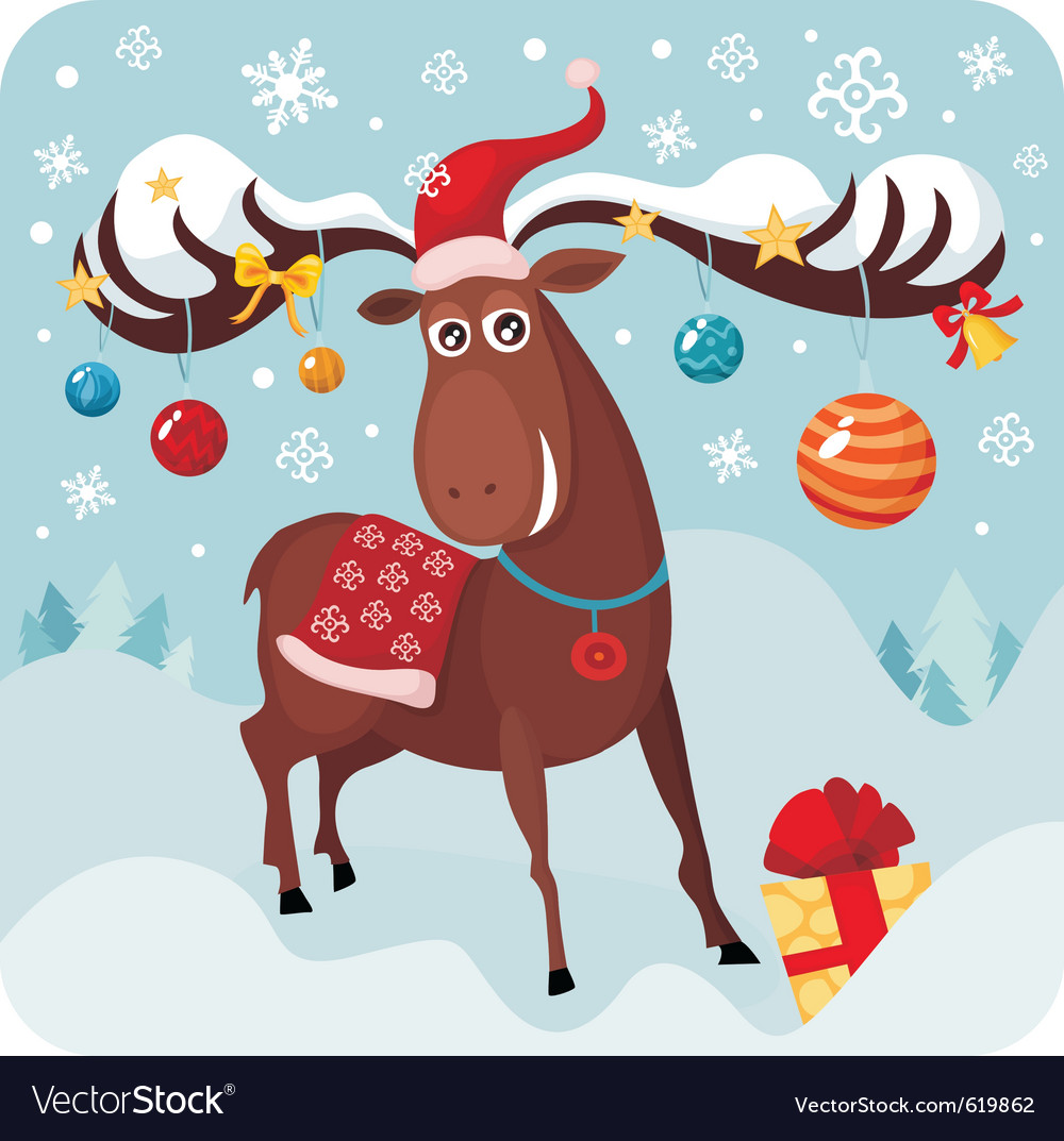 Christmas deer vector | Price: 3 Credit (USD $3)