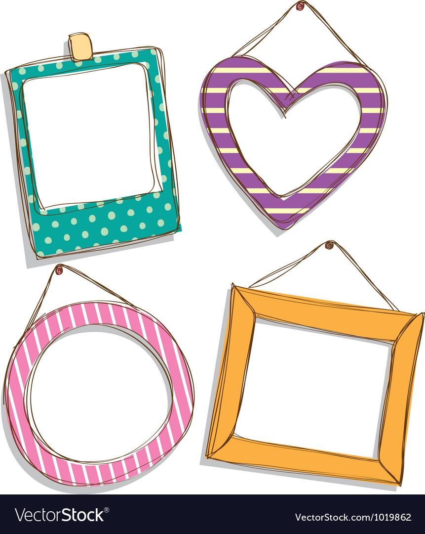 Cute frame vector | Price: 1 Credit (USD $1)