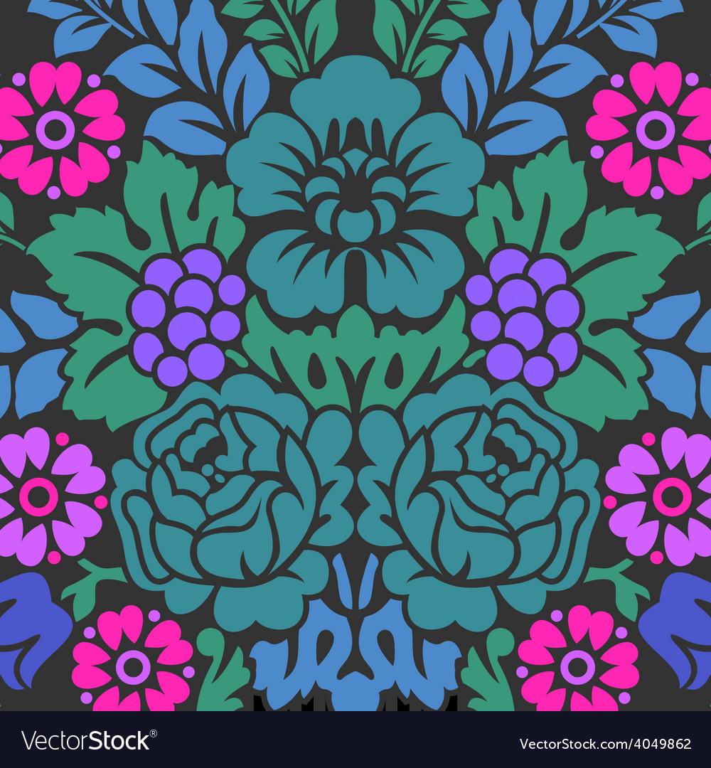 Damask floral pattern royal wallpaper vector | Price: 1 Credit (USD $1)