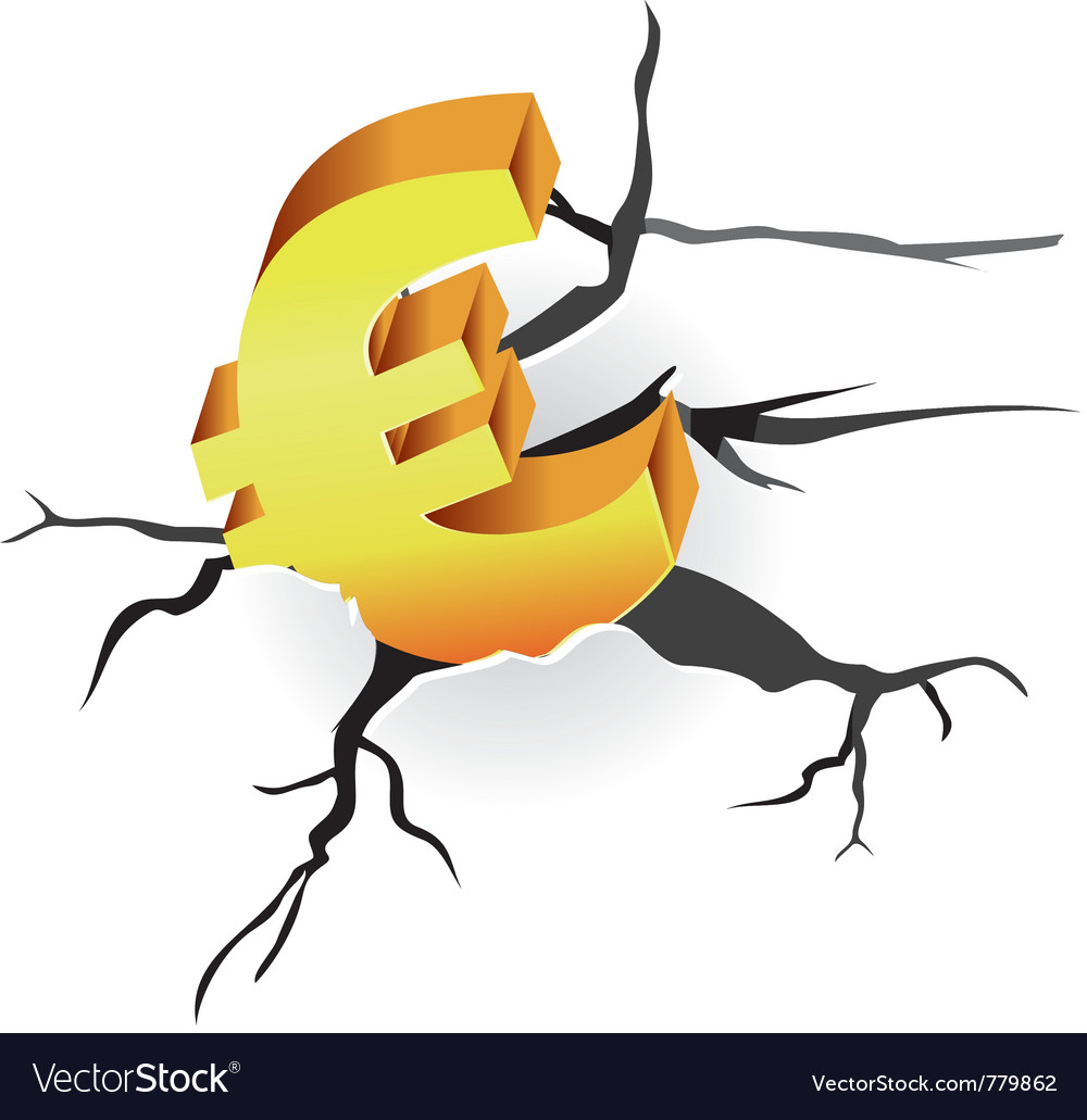 Euro crisis vector | Price: 1 Credit (USD $1)