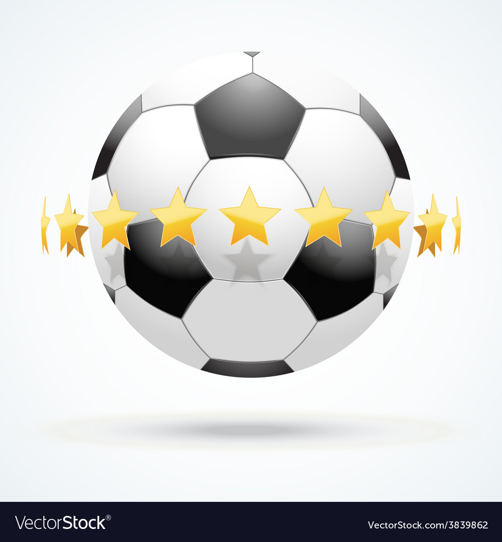 Football ball with golden vector | Price: 1 Credit (USD $1)