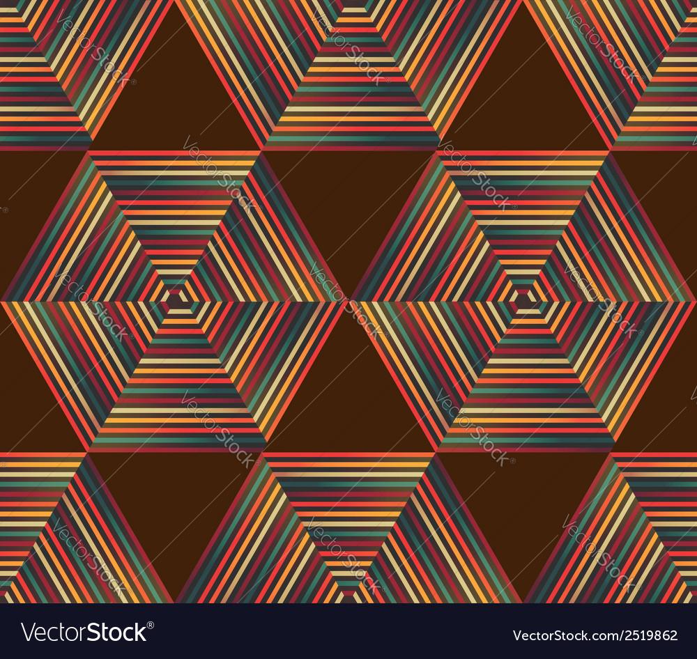 Seamless geometric retro pattern vector | Price: 1 Credit (USD $1)