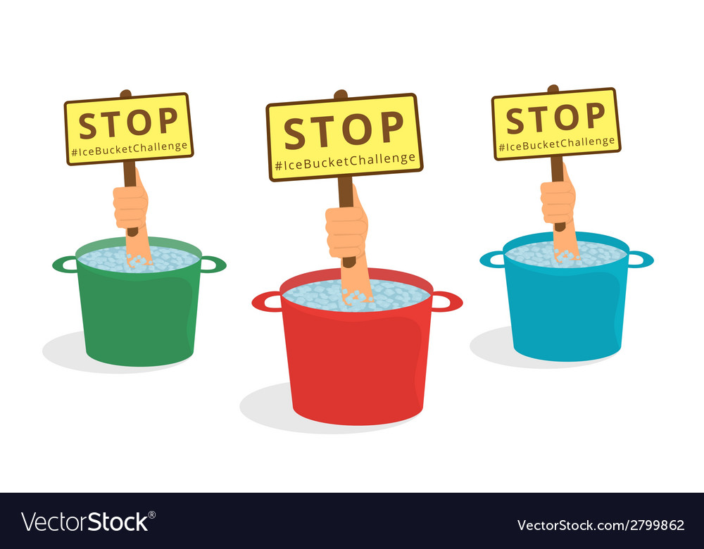 Stop ice bucket challenge vector | Price: 1 Credit (USD $1)