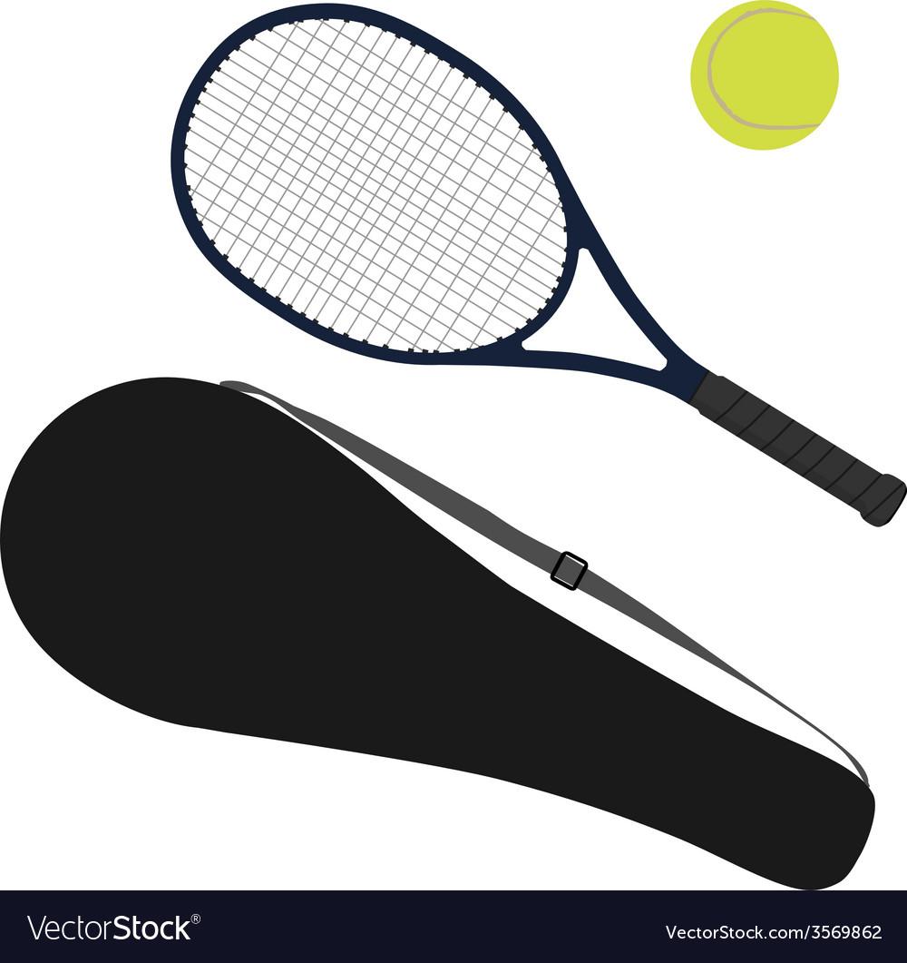 Tennis ball tennis racket racket cover vector | Price: 1 Credit (USD $1)