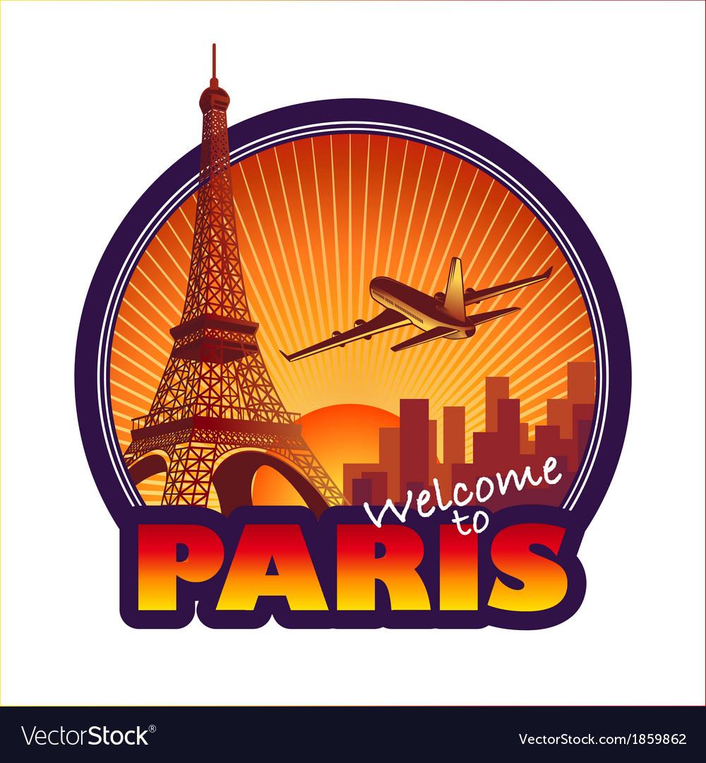 Travel paris vector | Price: 1 Credit (USD $1)