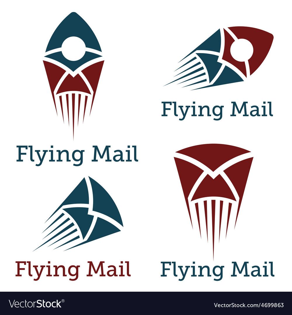 Flying mail design template vector | Price: 1 Credit (USD $1)