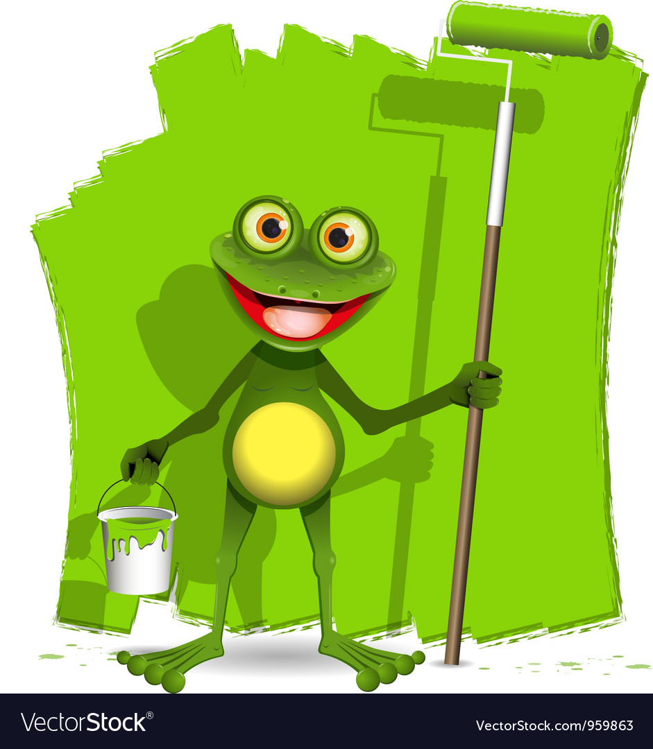 Frog painter vector | Price: 3 Credit (USD $3)