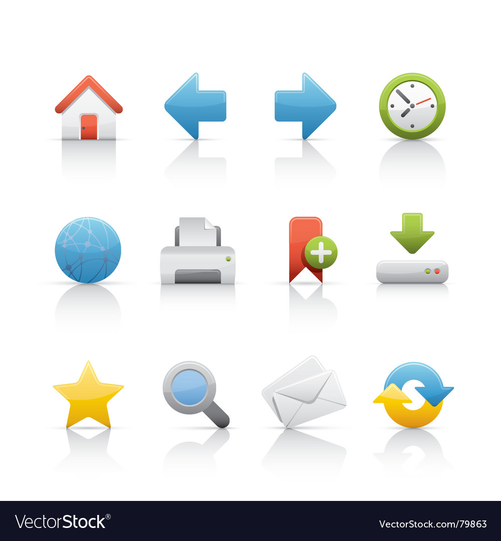 Icon set web and internet vector   Price: 1 Credit (USD $1)