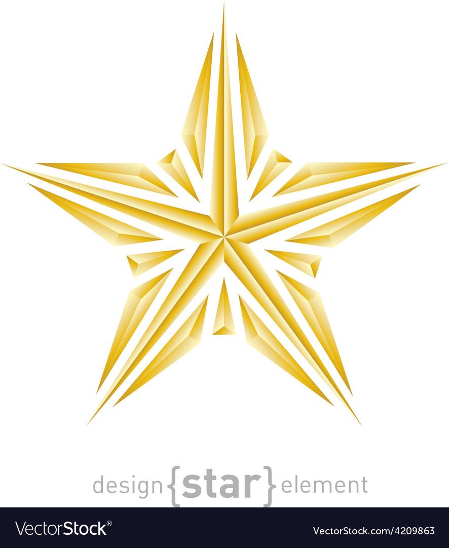 Luxury broken golden star on white background vector | Price: 1 Credit (USD $1)