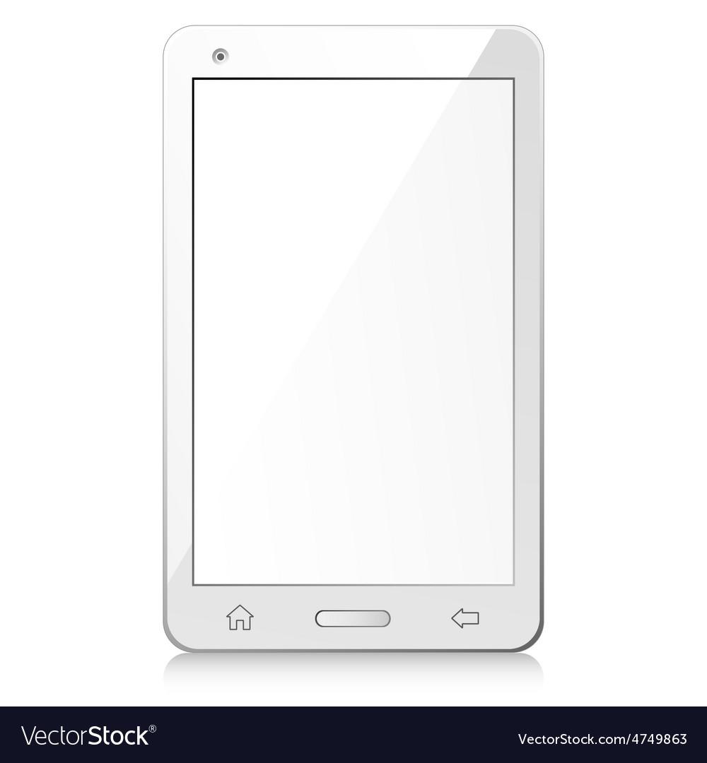 New white smartphone vector | Price: 1 Credit (USD $1)