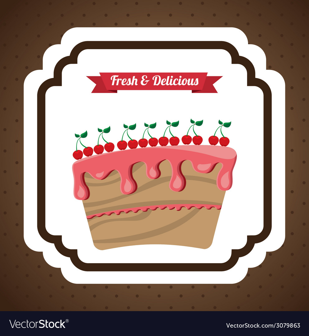 Pastry design vector | Price: 1 Credit (USD $1)
