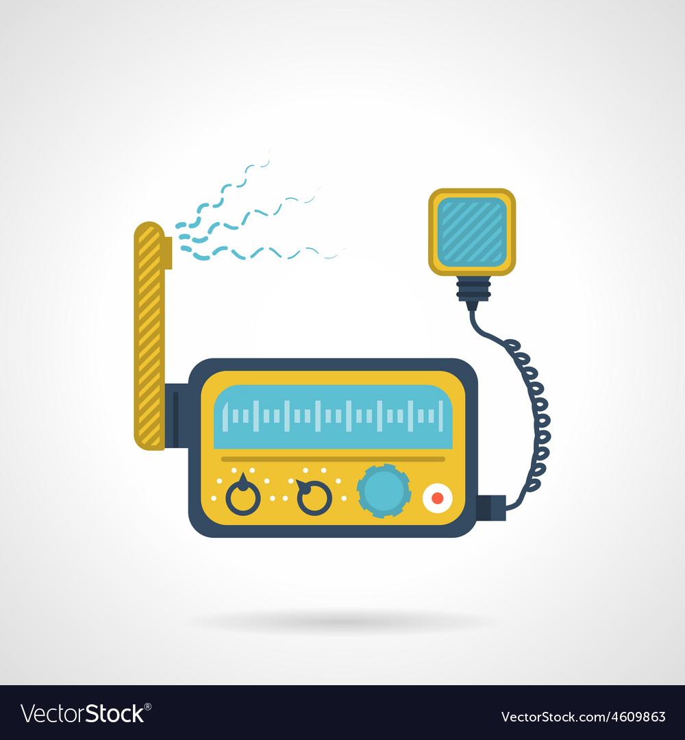 Radio transceiver flat icon vector   Price: 1 Credit (USD $1)